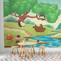 پوستر دیواری کودک مهمانی آقا خرسه مدل BKW126-1