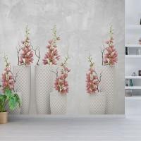 پوستر سه بعدی گلهای صورتی مدل BCW019-3